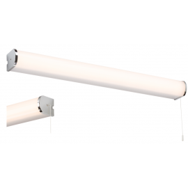 Knightsbridge SLULED Chrome 11W LED Bathroom Shaver Shelf Light with USB IP44