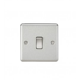 Knightsbridge CL12BC 10A 1G Intermediate Switch - Rounded Edge Brushed Chrome