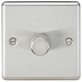 Knightsbridge CL2171BC 1G 2 Way 40-400W Dimmer - Rounded Edge Brushed Chrome