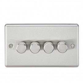 Knightsbridge CL2174BC 4G 2 Way 40-400W Dimmer - Rounded Edge Brushed Chrome