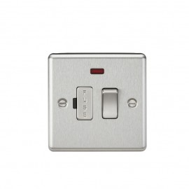Knightsbridge CL63NBC 13A Switched Fused Spur Unit with Neon - Rounded Edge Brushed Chrome