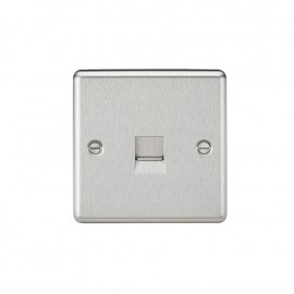 Knightsbridge CL74BC Telephone Extension Outlet - Rounded Edge Brushed Chrome