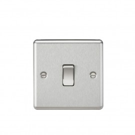 Knightsbridge CL834BC 20A 1G DP Switch - Rounded Edge Brushed Chrome