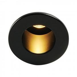 Intalite 113670 TRITON MINI LED HORN downlight, round, black, 1W LED, warm White