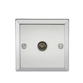 Knightsbridge CV010PC TV Outlet (non-isolated) - Bevelled Edge Polished Chrome