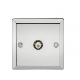 Knightsbridge CV015PC SAT TV Outlet - Bevelled Edge Polished Chrome