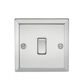 Knightsbridge CV12PC 10A 1G Intermediate Switch - Bevelled Edge Polished Chrome