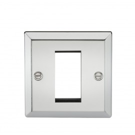 Knightsbridge CV1GPC 1G Modular Faceplate - Bevelled Edge Polished Chrome