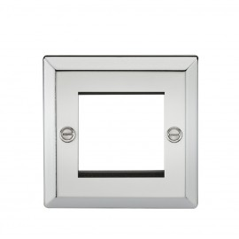 Knightsbridge CV2GPC 2G Modular Faceplate - Bevelled Edge Polished Chrome