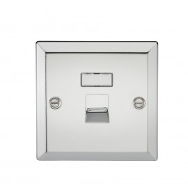 Knightsbridge CV45PC RJ45 Network Outlet - Bevelled Edge Polished Chrome