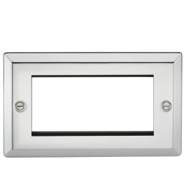 Knightsbridge CV4GPC 4G Modular Faceplate - Bevelled Edge Polished Chrome
