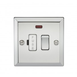 Knightsbridge CV63NPC 13A Switched Fused Spur Unit with Neon - Bevelled Edge Polished Chrome