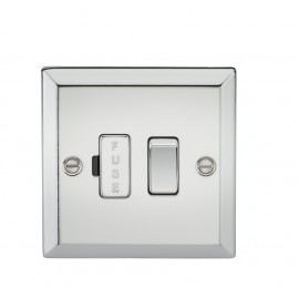 Knightsbridge CV63PC 13A Switched Fused Spur Unit - Bevelled Edge Polished Chrome