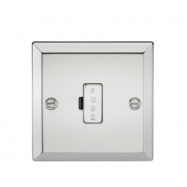 Knightsbridge CV6PC 13A Fused Spur Unit - Bevelled Edge Polished Chrome