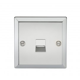 Knightsbridge CV74PC Telephone Extension Outlet - Bevelled Edge Polished Chrome