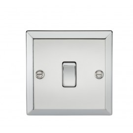 Knightsbridge CV834PC 20A 1G DP Switch - Bevelled Edge Polished Chrome