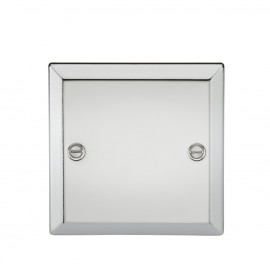 Knightsbridge CV85PC 1G Blanking Plate - Bevelled Edge Polished Chrome