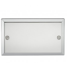 Knightsbridge CV86PC 2G Blanking Plate - Bevelled Edge Polished Chrome