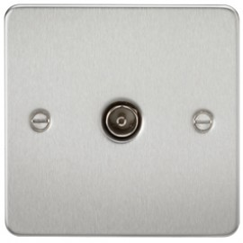 Knightsbridge FP0100BC 1G TV Coax Outlet Non-Isolated Brushed Chrome