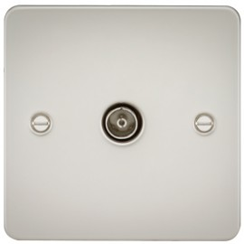 Knightsbridge FP0100PL 1G TV Coax Outlet Non-Isolated Pearl