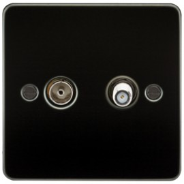 Knightsbridge FP0140GM 1G Sat/TV Outlet Isolated Gunmetal