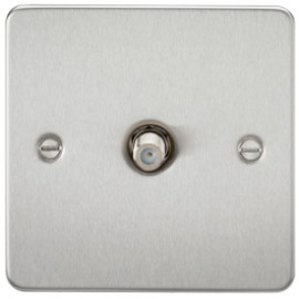 Knightsbridge FP0150BC 1G Sat/TV Outlet Non-Isolated Brushed Chrome