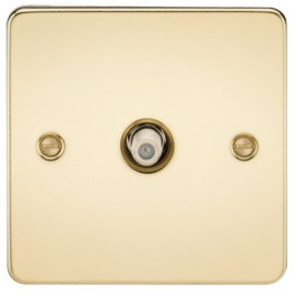 Knightsbridge FP0150PB 1G Sat/TV Outlet Non-Isolated Polished Brass