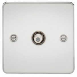 Knightsbridge FP0150PC 1G Sat/TV Outlet Non-Isolated Polished Chrome