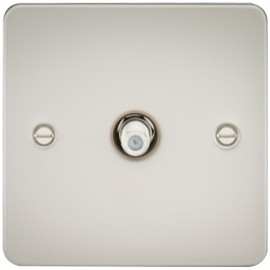 Knightsbridge FP0150PL 1G Sat/TV Outlet Non-Isolated Pearl