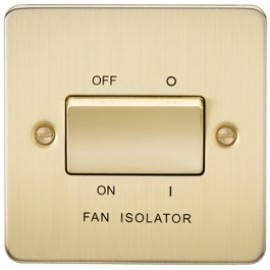Knightsbridge FP1100BB 10A 3 Pole Fan Isolator Switch Brushed Brass