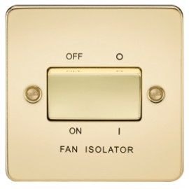 Knightsbridge FP1100PB 10A 3 Pole Fan Isolator Switch Polished Brass