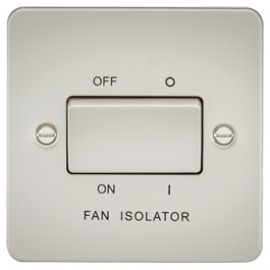 Knightsbridge FP1100PL 10A 3 Pole Fan Isolator Switch Pearl