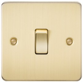 Knightsbridge FP1200BB 10A 1G Intermediate Switch Brushed Brass