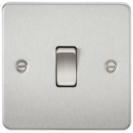 Knightsbridge FP1200BC 10A 1G Intermediate Switch Brushed Chrome