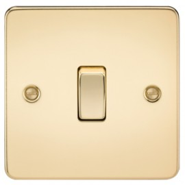 Knightsbridge FP1200PB 10A 1G Intermediate Switch Polished Brass
