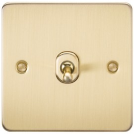 Knightsbridge FP1TOGBB 10A 1G 2 Way Toggle Switch Brushed Brass