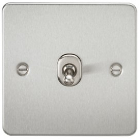 Knightsbridge FP1TOGBC 10A 1G 2 Way Toggle Switch Brushed Chrome