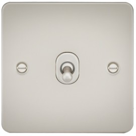 Knightsbridge FP1TOGPL 10A 1G 2 Way Toggle Switch Pearl