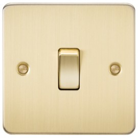 Knightsbridge FP2000BB 10A 1G 2 Way Switch Brushed Brass