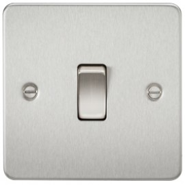 Knightsbridge FP2000BC 10A 1G 2 Way Switch Brushed Chrome