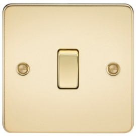Knightsbridge FP2000PB 10A 1G 2 Way Switch Polished Brass