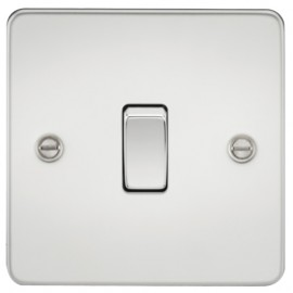 Knightsbridge FP2000PC 10A 1G 2 Way Switch Polished Chrome