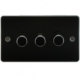 Knightsbridge FP2163GM 3G 2 Way Dimmer 400W Gunmetal