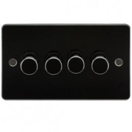Knightsbridge FP2164GM 4G 2 Way Dimmer 400W Gunmetal