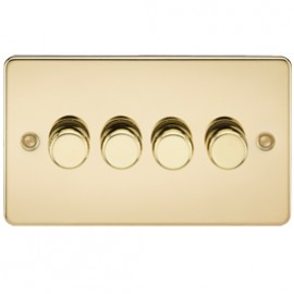 Knightsbridge FP2164PB 4G 2 Way Dimmer 400W Polished Brass