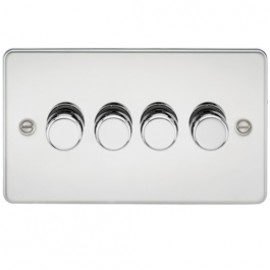 Knightsbridge FP2164PC 4G 2 Way Dimmer 400W Polished Chrome