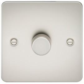 Knightsbridge FP2171PL Flat Plate 1G 2 Way 40-400W Dimmer - Pearl