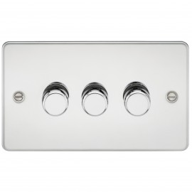 Knightsbridge FP2173PC FLAT PLATE 3G 2 WAY 40-400W DIMMER - POLISHED CHROME