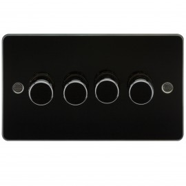 Knightsbridge FP2174GM FLAT PLATE 4G 2 WAY 40-400W DIMMER - GUNMETAL