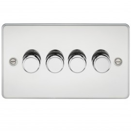 Knightsbridge FP2174PC FLAT PLATE 4G 2 WAY 40-400W DIMMER - POLISHED CHROME